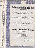 ACCION ANTIGUA - ACTION ANTIQUE =  Julien Maris 1948  Numeros Bajos - Acciones & Títulos