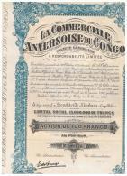 ACCION ANTIGUA - ACTION ANTIQUE =  La Comerciale Anversoise Du Congo 1927 - Acciones & Títulos
