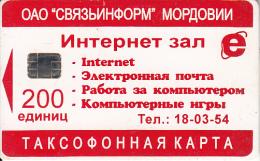 RUSSIA-MORDOVA - Internet(200 Units), Used - Russia