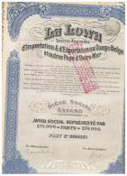 ACCION ANTIGUA - ACTION ANTIQUE =  La Lowa  1929 - Acciones & Títulos