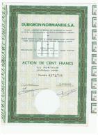 ACCION ANTIGUA - ACTION ANTIQUE = Dubigeon Normandie SA - Acciones & Títulos