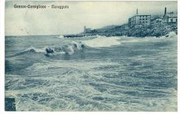 CARTOLINA   - GENOVA CORNIGLIANO - MAREGGIATA  -  VIAGGIATA NEL 1930 - Genova (Genoa)