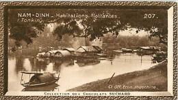 CHOCOLAT SUCHARD : IMAGE N° 207 .  NAM-DINH . HABITATIONS FLOTTANTES . TONKIN . - Suchard