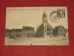 POPERINGE -  Oostzijde der Groote Markt  -