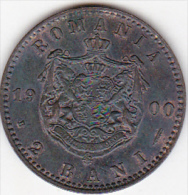ROUMANIE . 2 BANI 1900 B . CAROL I .SUP/XF - Roumanie