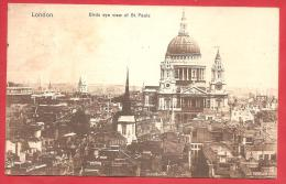 CARTOLINA VIAGGIATA  INGHILTERRA - LONDRA - Wiew Of St. Pauls Cathedral - ANNULLO LONDON 11 - 01 - 1915 - St. Paul's Cathedral