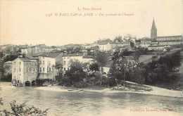 Tarn  - Ref A 14 - Saint-paul-cap-de-joux-st-paul-cap-de-joux - Vue Générale Et Chaussée -carte Bon état - - Saint Paul Cap De Joux