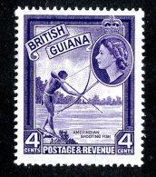 115 X)  Br.Guiana 1963  SG.334ab ~    Mnh**deep Violet - British Guiana (...-1966)
