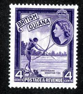 116 X)  Br.Guiana 1963  SG.334ab ~    Mnh**deep Violet - British Guiana (...-1966)