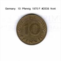 GERMANY    10  PFENNIG  1970 F   (KM # 108) - 10 Pfennig