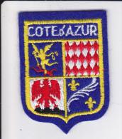 ECUSSON TISSU BRODE COTE D AZUR  BLASON ARMES HERADIQUE - Blazoenen (textiel)