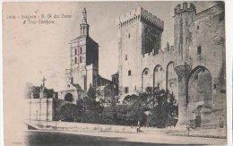 France - CP Avignon (Ardèche) N D Des Doms  Tour Campane Obliteration GARE D'AVIGNON VAUCLAUSE - La Louvesc