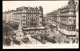 69 LYON 02 / Place De La République Et Rue Du Président Carnot / - Lyon