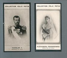 S412 - CARTES COLLECTION FELIX POTIN - NICOLAS II TSAR DE RUSSIE ALEXANDRA FEODOROWNA - Félix Potin