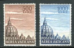 VATICANO 1953 POSTA AEREA CUPOLE ** MNH SPLENDIDA - Vatican