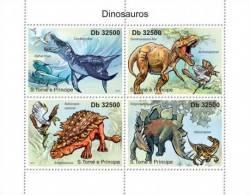 SAO TOME E PRINCIPE 2011 MNH** - Dinosaurs - Yvert&Tellier: 3932-3935 - Prehistorisch