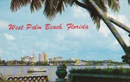 Florida West Palm Beach Skyline View Across Lake Worth