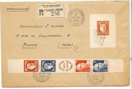 LSAU3 - 100° DU TIMBRE ET CITEX SUR LETTRE RECOMMANDEE OBL. DE L'EXPOSITION 1/6/1949 - 1921-1960: Période Moderne