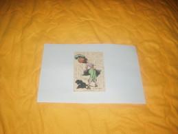 """CARTE POSTALE CIRCULEE DATE 1911 ?. /  LA JUPE-CULOTTE. A LA SKATING-RING"""" 146 / SIGNE LAFON / CACHETS + TIMBRES. - Altre Illustrazioni"""