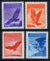 Liechtenstein C9-12 Mint Hinged Eagle Airmail Short Set From 1934-35 - Air Post