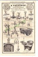 PUB 1882 Système De Pompe à Bière / Robinetterie CAZAUBON Appareil Pour Eaux Gazeuses FRANCOIS  Boulevard Voltaire Paris - Publicités