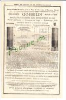 PUB 1882 Armes De Chasse & De Guerre GOSSELIN Cartouches Douilles Instruments De Pesage Balance Falcot Mairet Lyon V - Publicités