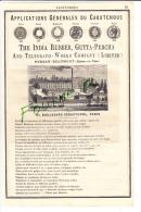 PUB De 1882  Caoutchouc  The India Rubber Gutta Percha PERSAN BEAUMONT Caoutchouc Le Tellier Verstraet - Publicités
