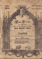 Almanach Valais Wallis 1851 ; Haus Kalender Sitten+ 32 Seiten - Livres, BD, Revues