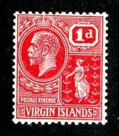 209 X)  Br. Virgin Is. 1922  SG.89 -sc54-scarlet    M* - British Virgin Islands