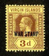 211 X)  Br. Virgin Is. 1916  SG.79a -sc MR2-lemon    M* - British Virgin Islands