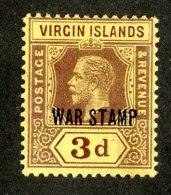 212 X)  Br. Virgin Is. 1916  SG.79a -sc MR2-lemon    M* - British Virgin Islands