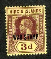 214 X)  Br. Virgin Is. 1916  SG.79a -sc MR2-lemon    M* - British Virgin Islands