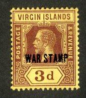 215 X)  Br. Virgin Is. 1916  SG.79a -sc MR2-lemon    M* - British Virgin Islands