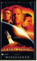 VHS Video , Armageddon  -  Mit :  Bruce Willis, Billy Bob Thornton, Ben Affleck, Steve Buscemi , Liv Tyle  -  Von 1998 - Action & Abenteuer