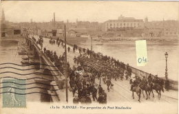 NANTES  44  Vue Perspective Du Pont Haudaudine  Belle Animation   ( 05/1922 ) - Nantes