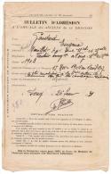 1931 BULLETIN D´ADHESION A L´AMICALE DES ANCIENS DU 12e DRAGONS GAUDARD EUGENE MENILLOT PAR TOUL MEURTHE ET MOSELLE FOUG - Dokumente