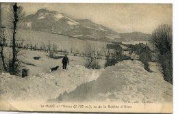 CPA 38 LA MURE ET L OBIOU VU DE LA ROBINE D HIVER 1924 - La Mure