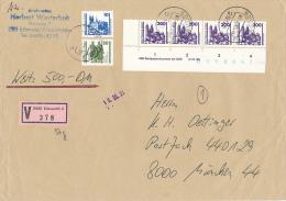 EDEWECHT - 1991 , Wert-Brief Mit DDR-DM-Frankatur - Unterrand  -  Dispatch: Big Letter - Cartas