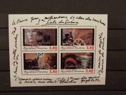 """FRANCE  FEUILLET N° 17 """" 1er SIECLE DU CINEMA """" , ANNEE 1995 - Mint/Hinged"""