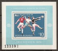 FÚTBOL - RUMANÍA 1974 - Yvert #H114 - MNH ** - Copa Mundial