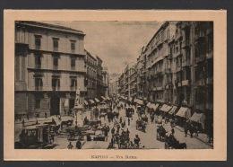 DF / IMAGES / ITALIE / NAPLES / RUE DE ROME / PLACE SAINT FERDINAND - ENTREE CÔTE DE LA GALERIE HUMBERT 1er - Vieux Papiers