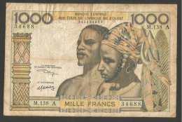 BANQUE CENTRALE Des ETATS De L´ AFRIQUE De L´ OUEST - 1000 Francs (M. 138 A - 34668 - Altri – Africa
