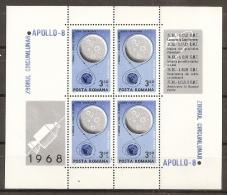 ESPACIO - RUMANÍA 1969 - Yvert #H70 - MNH ** - Espacio