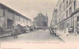 NANCY EGLISE PLACE DU MARCHE 1900 - Nancy