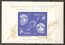 ESPACIO - RUMANÍA 1963 - Yvert #H55 - MNH ** - Espacio
