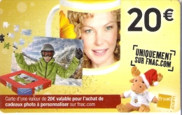 TARJETA DE REGALO DE FRANCIA DE FNAC DE 20€  (GIFTCARD) CARTE CADEAU - Francia