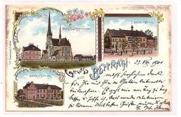 AK Litho MÖNCHENGLADBACH - GRUSS AUS BETTRATH - Herz-Jesu-Kirche  Schule In Hoven U. Bettrath  1901 - Mönchengladbach