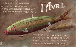 Illustrée HUMOUR GUERRE 14-18 : Le Zeppelin Du 1° Avril - Humour