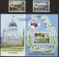 COCOS (KEELING) IS.  - 1984 Ausipex 84 Set Of 2 & S/s MNH **  SG 119-21  Sc 119-21 - Kokosinseln (Keeling Islands)