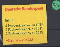 BRD  Markenheft Postfrisch   MH-MiNr. 22 I I - Blocchi